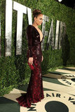 Jennifer Lopez Bares Cleavage and Brings Casper Along For Vanity Fair's Oscar Bash