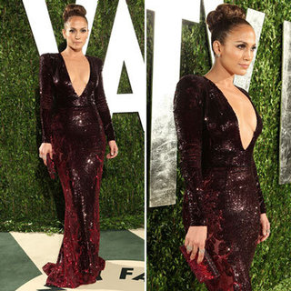 Jennifer Lopez at Vanity Fair Oscars Party 2012