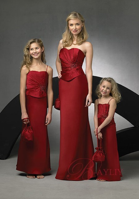 wedding red bridesmaid dresses