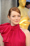 Emma Stone Makes an Elegant Oscars Entrance in Red Giambattista Valli