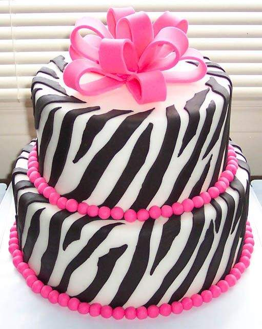 Special Zebra Birthday Cakes For Teenage Girls