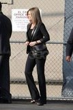 Jennifer Aniston wore a hot leather blazer.