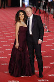 Salma Hayek and Francois-Henri Pinault posed together at the Goya Awards in Madrid.