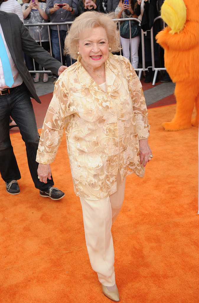 Betty White strutting down the orange carpet.