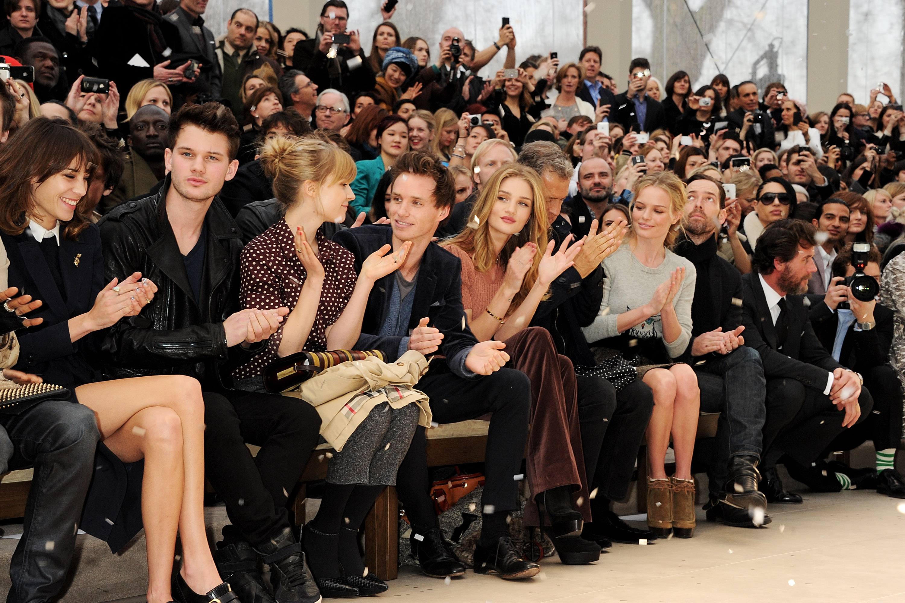 Rosie Huntington Whiteley And Kate Bosworth Sat Front Row