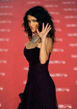 Salma Hayek looked dazzling in Madrid.
