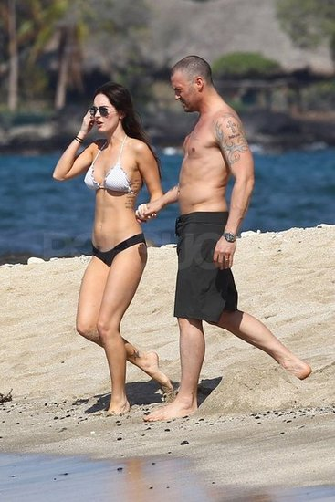 Bikini-Clad Megan Fox and Brian Austin Green Hit the Beach in Hawaii