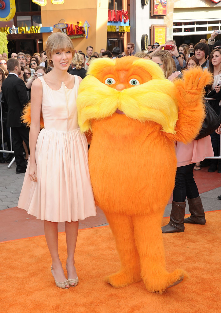 Taylor Swift and the Lorax got together for a photo.