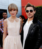 Zac Efron looked cool in shades while Taylor Swift looked sweet in bangs.