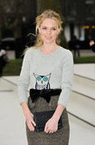 Kate Bosworth sporting an over-sized bow belt while attending Burberry's fashion show at New York Fashion Week.