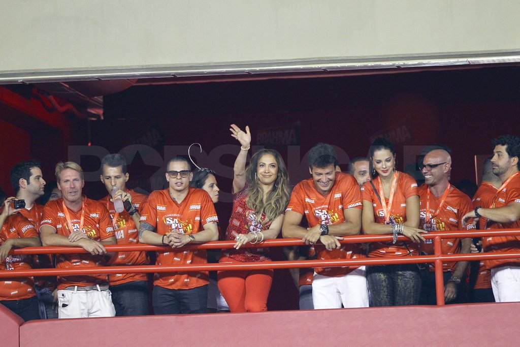 Jennifer Lopez got a warm welcome from her Brazilian fans.