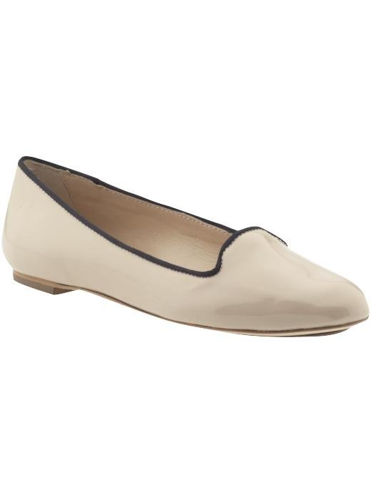 Looking for a sweet take on smoking slippers? Try this nude patent leather version with navy blue lining. Loeffler Randall Blaise ($100, originally $295)