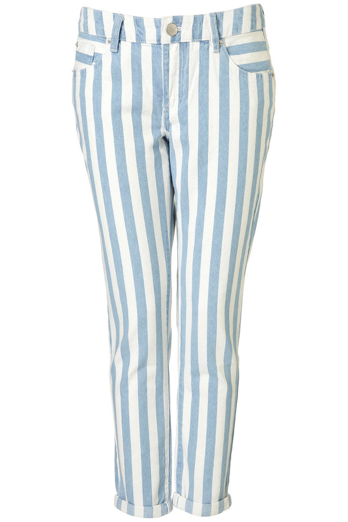 Topshop Moto Striped Jeans ($90)