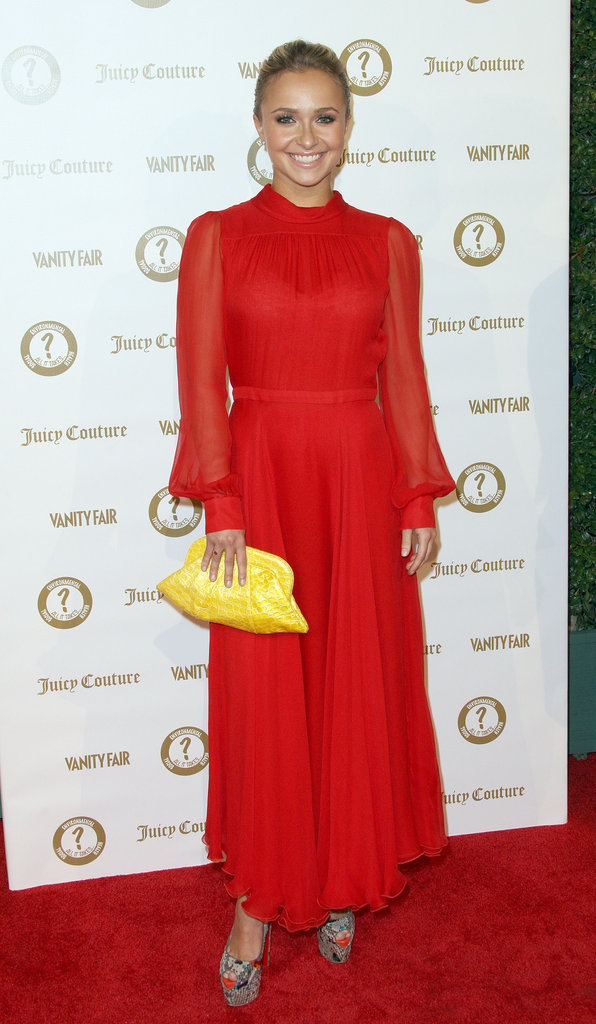 Hayden Panettiere attended a Vanity Fair and Juicy Couture bash in LA.