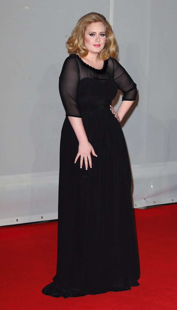Adele picked a black gown from Burberry.
