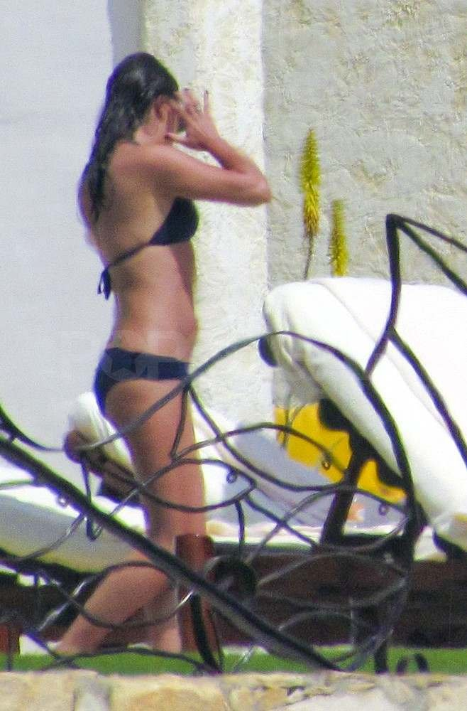 Lea Michele on vacation in Mexico.