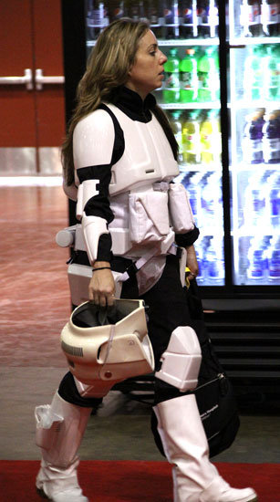 Even Stormtroopers get a chance to let their hair down.  Source: Flickr User gordontarpley