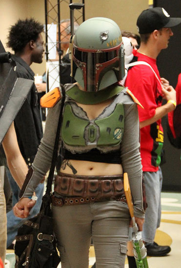 Uh oh, wonder what bounty hunter Boba Fett is up to in Orlando.  Source: Flickr User gordontarpley