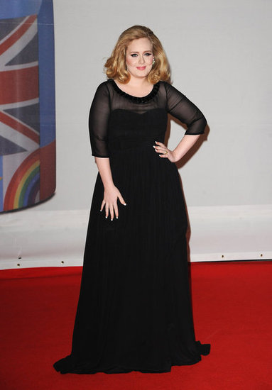 Adele in Burberry.