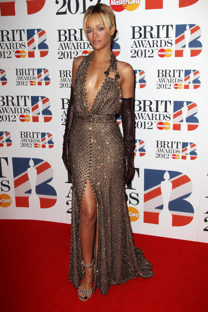 Rihanna in beaded Givenchy.