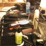 A Peek at Some of the Hair Products Used Backstage