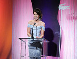 Kate Beckinsale accepted a Lacoste Award.