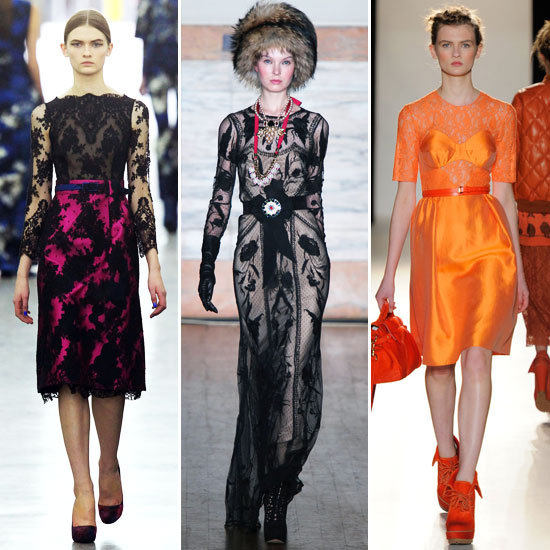 Lace Appliques London Fashion Week Trends!