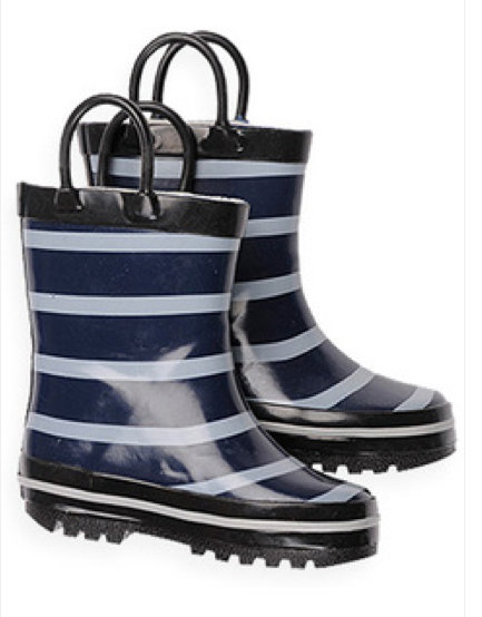 Pumpkin Patch Classic Stripe Rain Boots ($25)