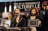 Women wear beards in protest of sexism.