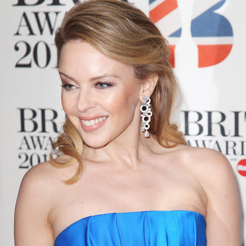 Kylie Minogue's Hair and Makeup at the 2012 Brit Awards