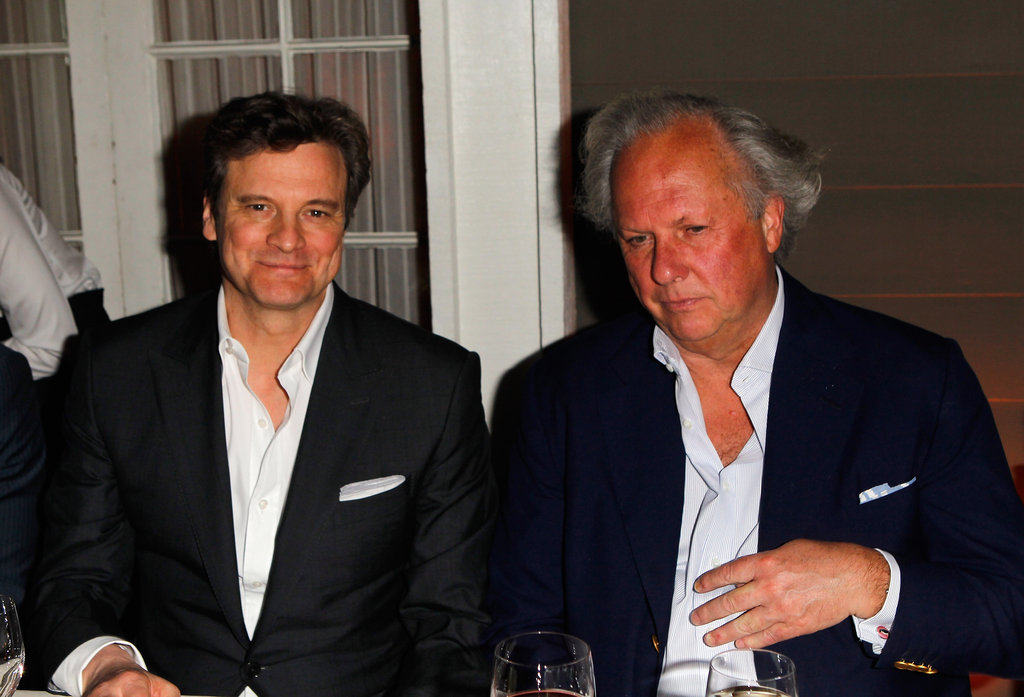 Colin Firth caught up with Vanity Fair editor in chief Graydon Carter.
