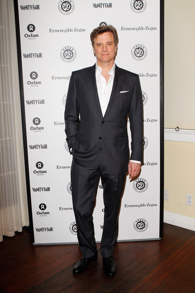 Colin Firth hosted a party benefiting Oxfam and the Green Carpet Challenge.