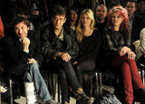 Kate Moss and Jamie Hince were front row for James Small with his bandmate Alison Mosshart.