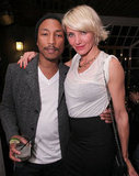 Cameron Diaz and Pharrell Williams posed for a picture.