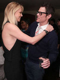 Charlize Theron said hello to Johnny Knoxville.