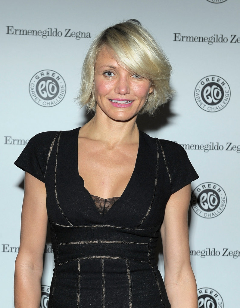 Cameron Diaz went to a Chateau Marmont bash.