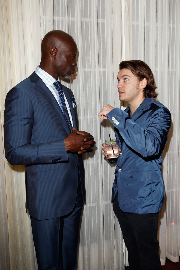 Emile Hirsch said hello to Djimon Hounsou.