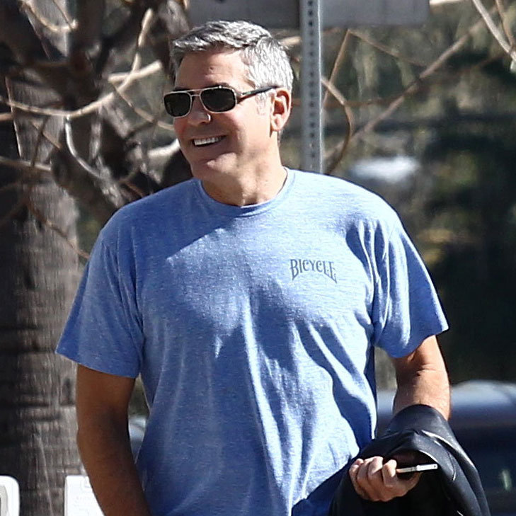 George Clooney wearing sunglasses.