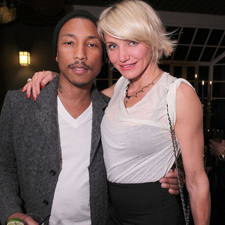 Cameron Diaz and Charlize Theron Pictures at Pharrell Party
