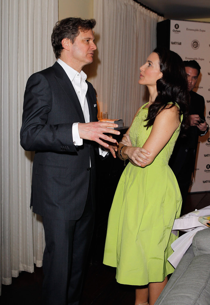 Kristin Davis and Colin Firth chatted in LA.