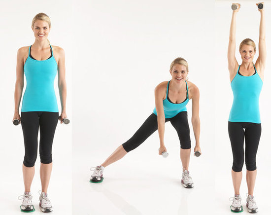 Valslide Side Lunge With Shoulder Press