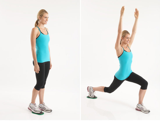 Valslide Reverse Lunge With Arms Up