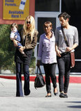 Rachel Zoe with Skyler and Joey Maalouf in LA.