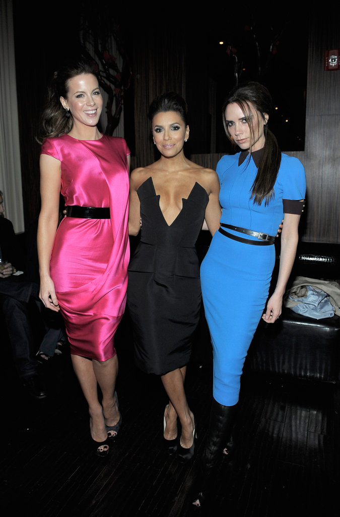 Eva Longoria, Victoria Beckham, and Kate Beckinsale got together for a February event at Beso, Eva's LA restaurant.