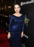 Sophia Bush wore a long, sequined gown.