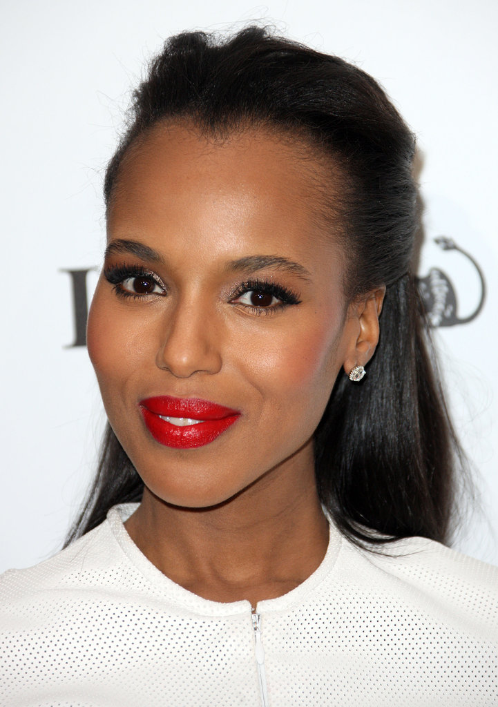 Kerry Washington with red lips.