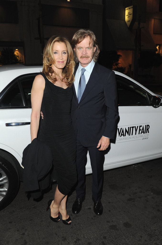 Felicity Huffman arrived at Eva Longoria's party with William H. Macy.