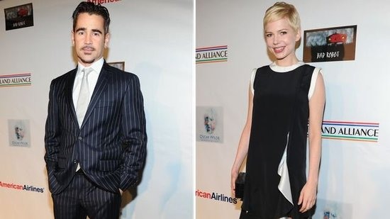 "Video: Colin Farrell Reveals His ""First Romantic Love"" as He Honors Michelle Williams"