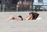 AnnaLynne McCord wore a two-piece to the beach.
