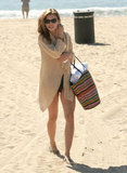 AnnaLynne McCord looked perfectly styled for a beach day.